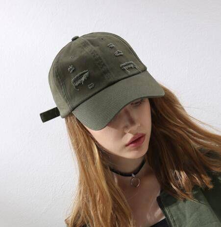 3ef2d376d Plain green cut out baseball cap for teenage girls adjustable hip ...