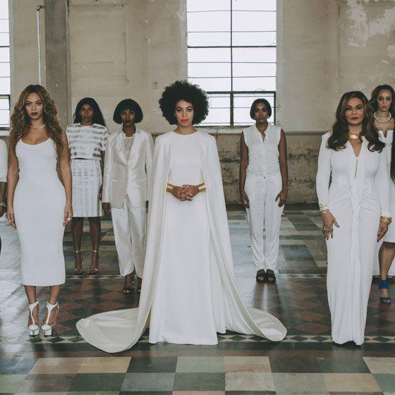 Solange Knowles e Suas Madrinhas #SolangeKnowles #wedding #Beyoncé #bride