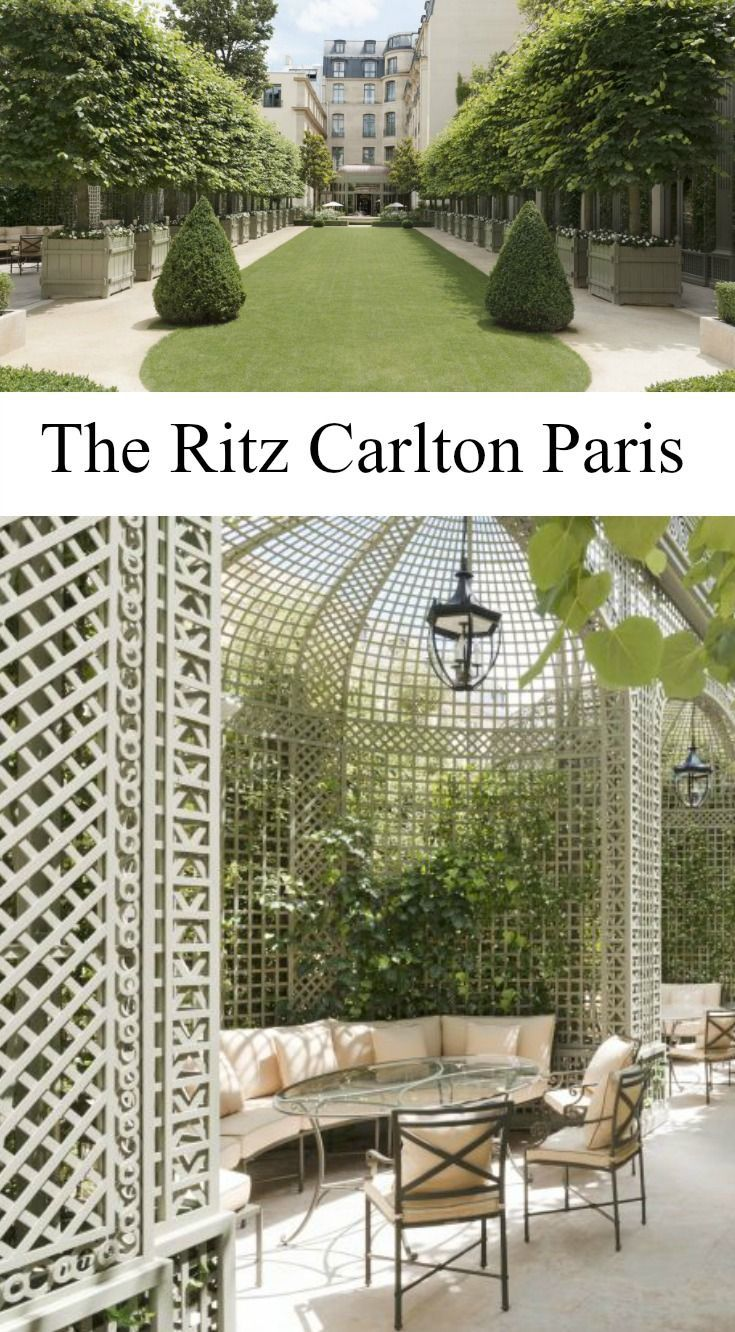 Treillage and Planters at the Ritz Carlton in Paris. | Things I Love ...