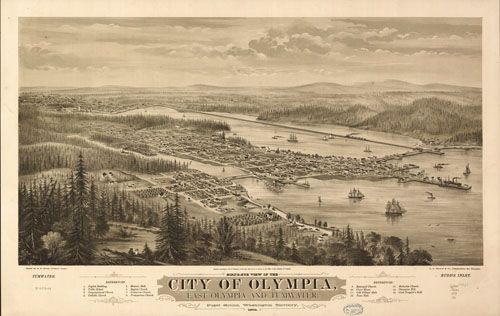 Historical Map - Olympia, WA - 1879 | Pacific northwest history ...