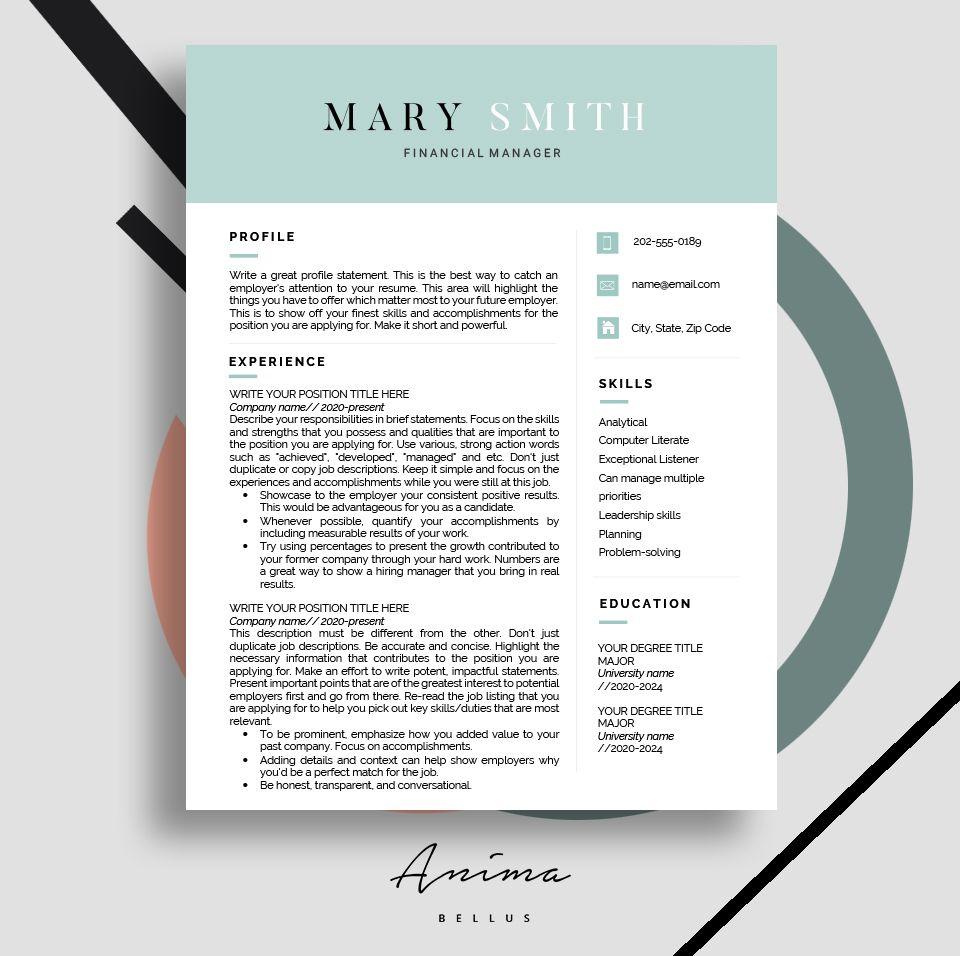 Resume template, Resume, Modern resume design, Job, Cv