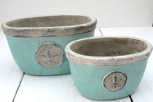 Übertopf Keramik Türkis pflanzschale Übertopf blumenübertopf keramik türkis mint mit lilie b