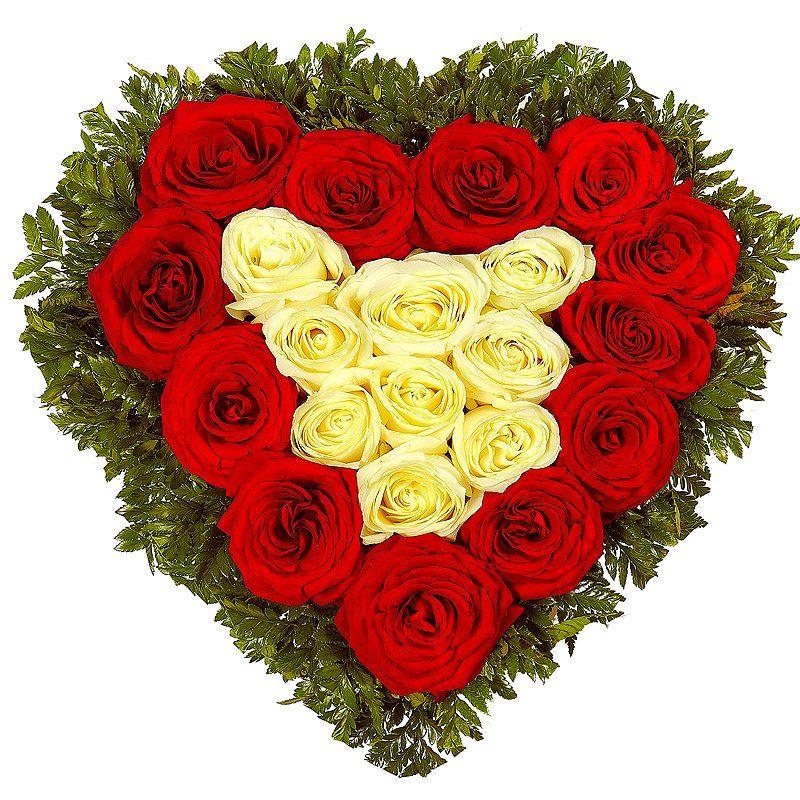картинки букетов цветов сердечко то
