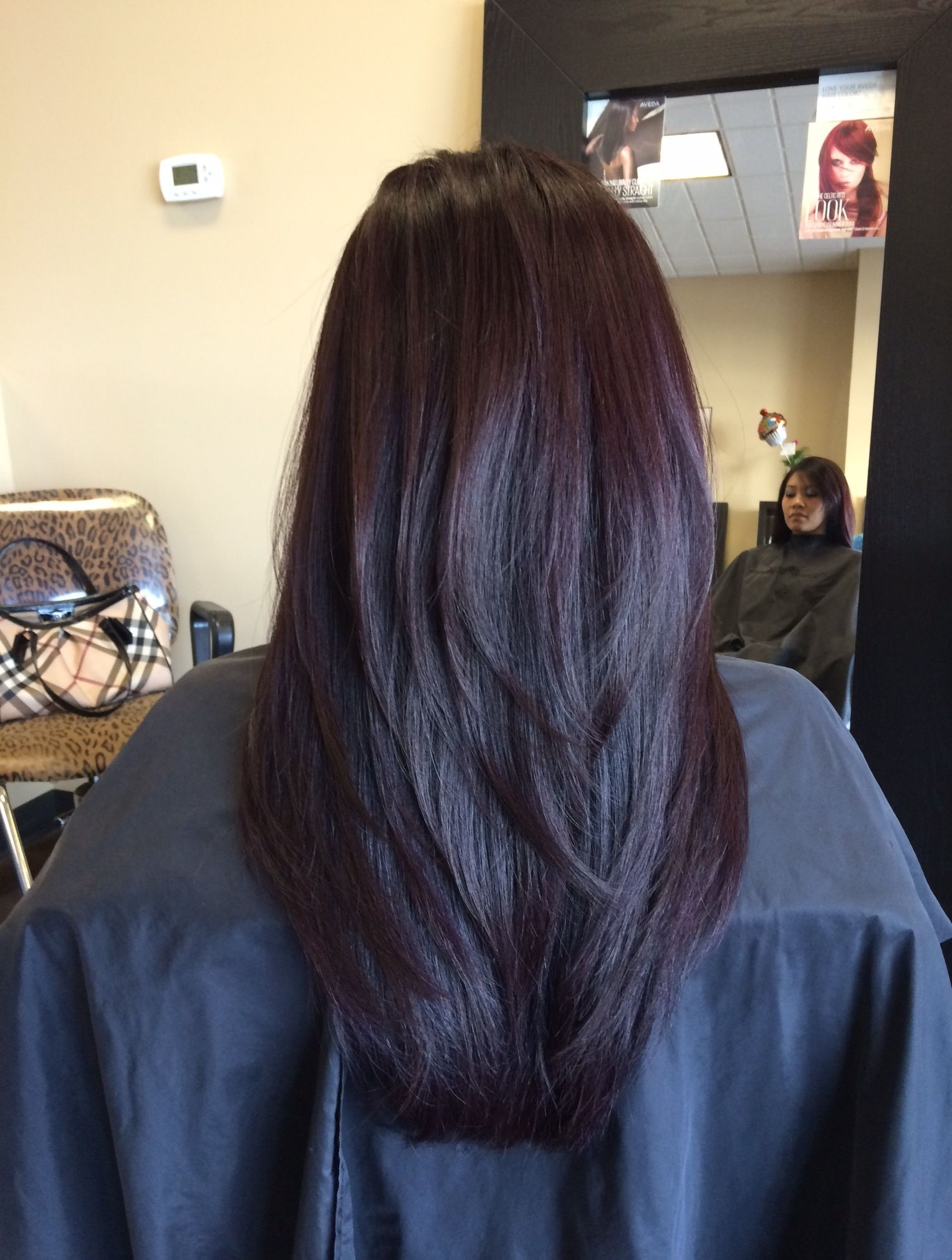 Concave long layers + Aveda color that I did :)  Hair styles