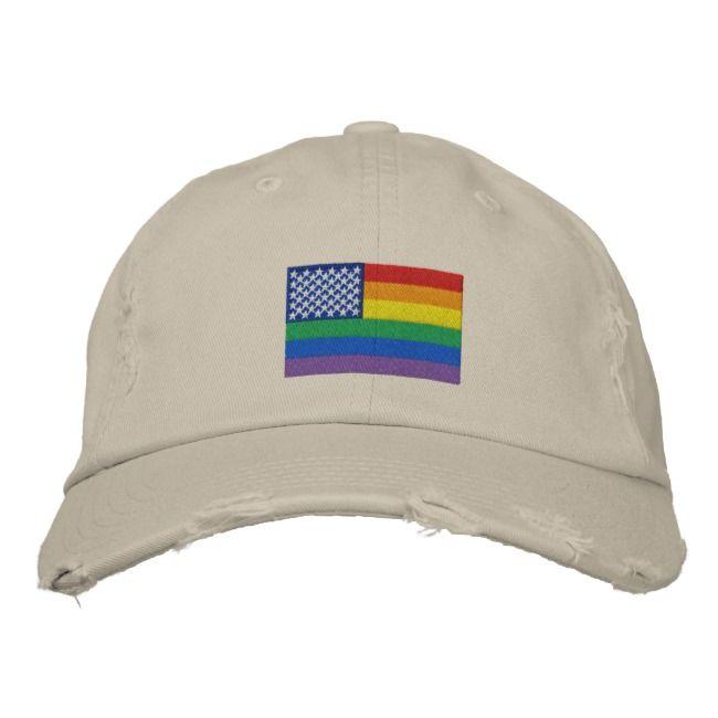 Gay pride baseball caps