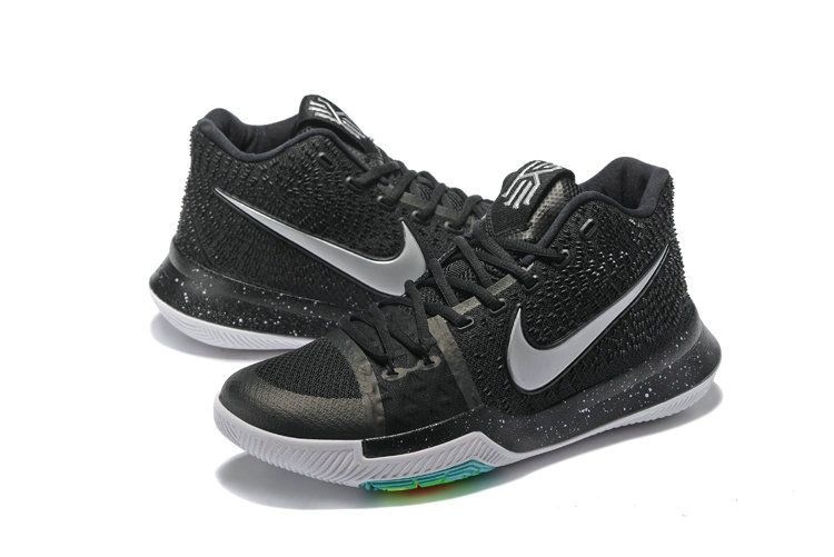 6ee611691bd Legit Cheap 2018 Kyrie 3 III Black Ice Anthracite Metallic Silver ...