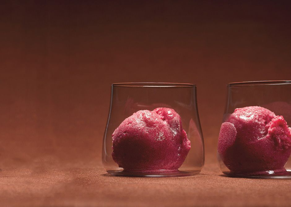 Cranberry and Vanilla Bean Sorbet Recipe - Bon Appétit