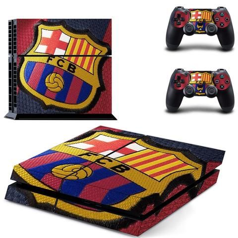 fcb barcelona ps4 skin decal for console and controllers