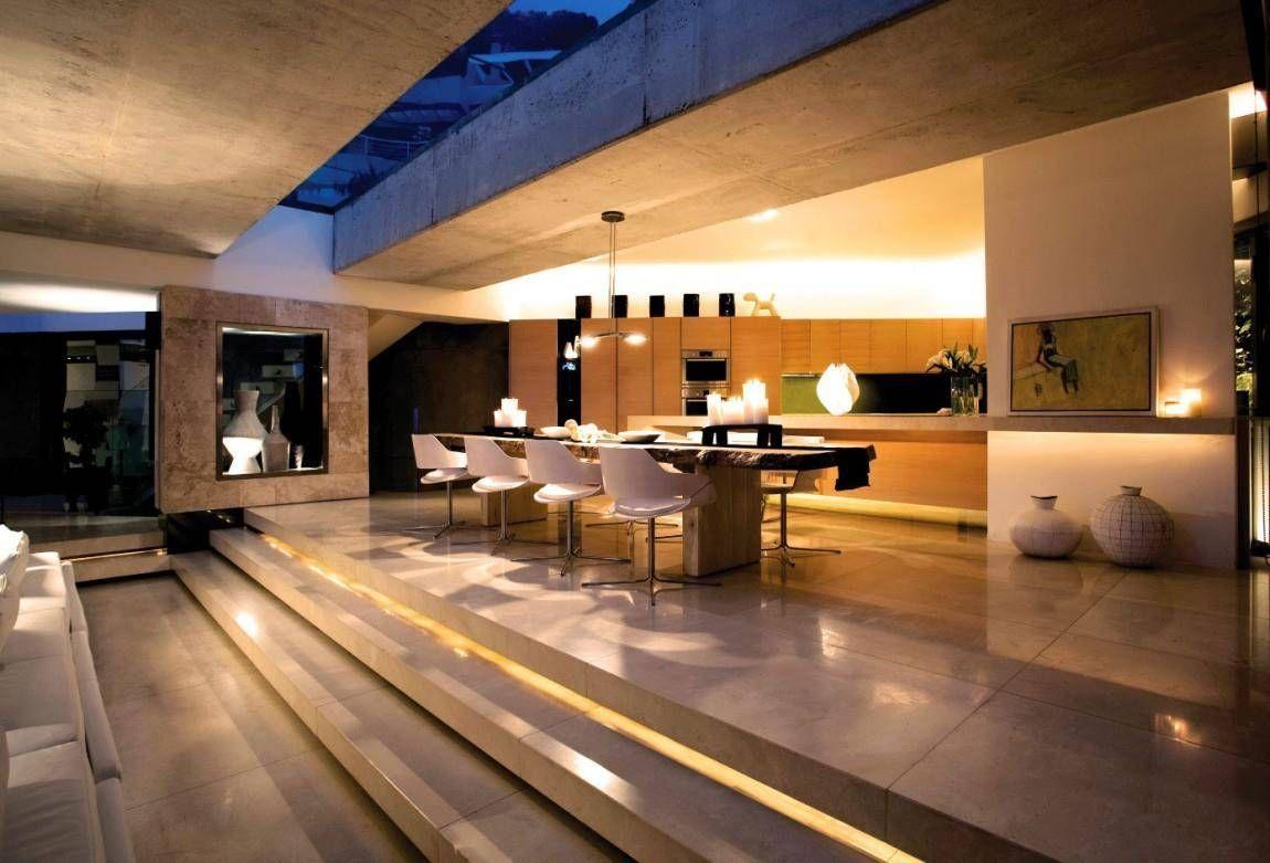 Cuisine Moderne De Luxe Maison Deco Interieur Salon Plan Maison Moderne