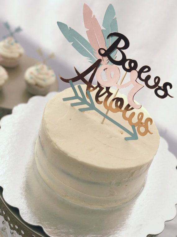 Bows Or Arrows Boho Gender Reveal Cake Topper Etsy Gender Reveal Cake Topper Gender Reveal Cake Fall Gender Reveal Party