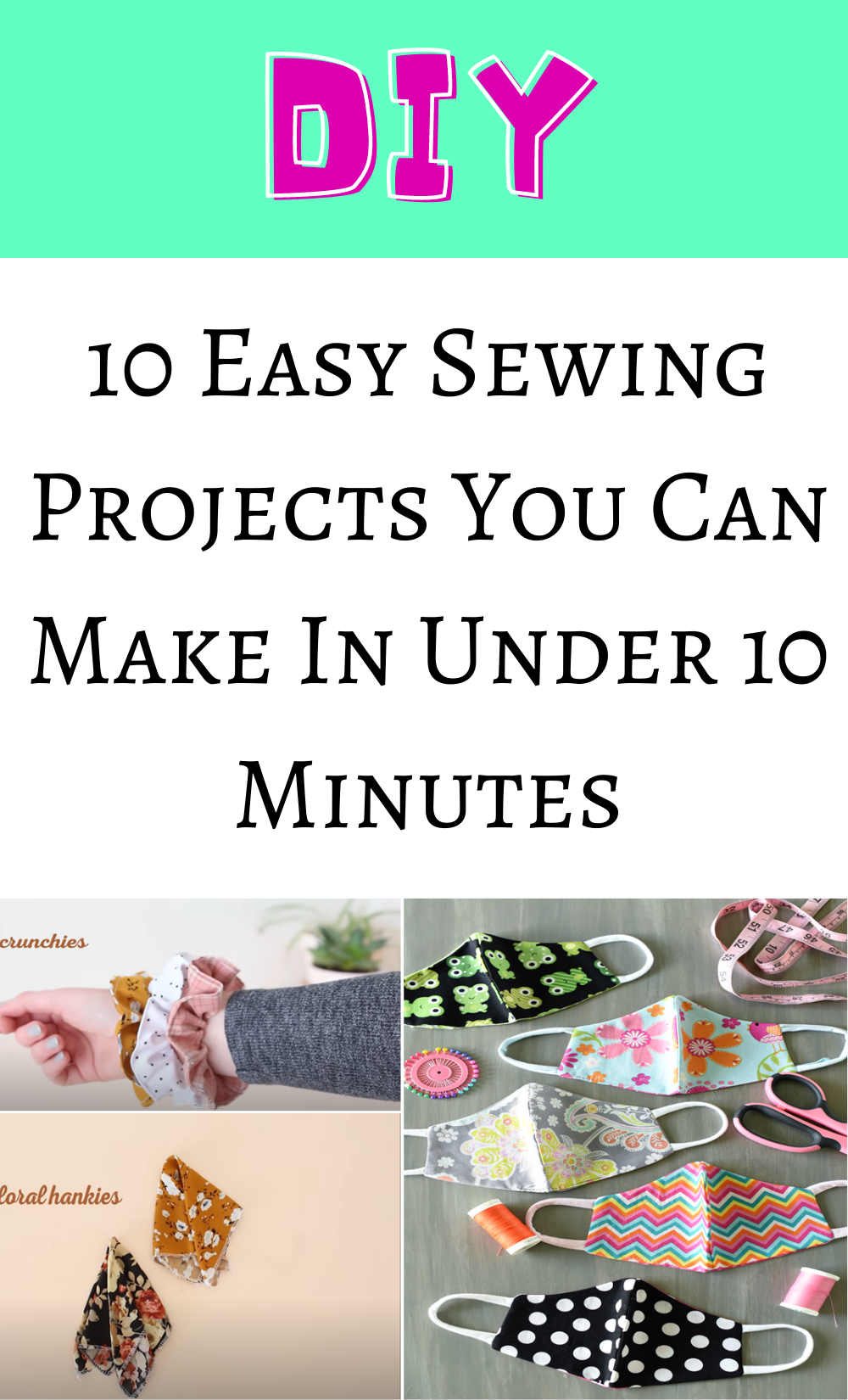Photo of 10 Easy Sewing Projects You Can Make In Under 10 Minutes