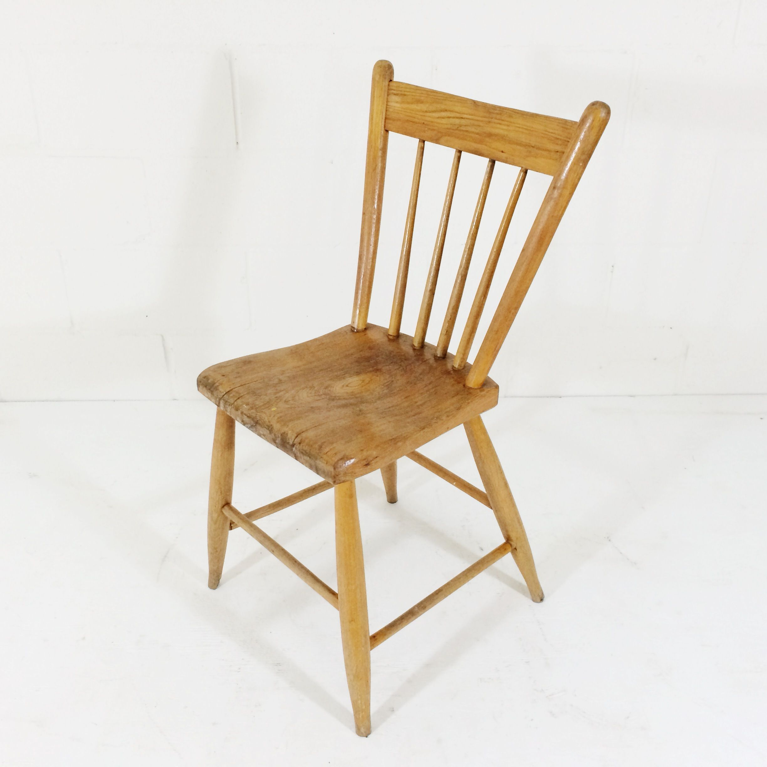 Pair Of Antique Pine Chairs