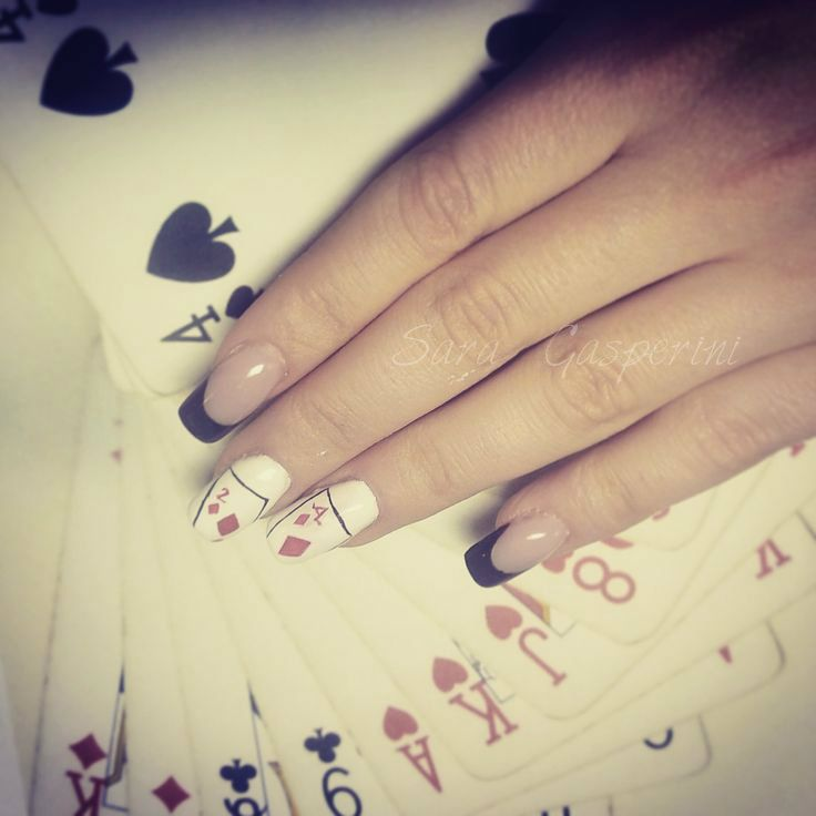#nail #unhas #unha #nails #unhasdecoradas #nailart #gorgeous #fashion #stylish #lindo #cool #cute #card #red #cartedagioco #poker #heart #chic #elegante