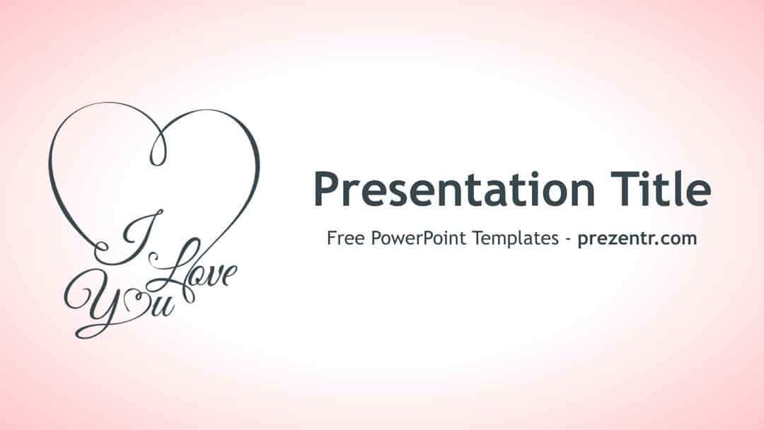 Love Powerpoint Template Powerpoint Templates Pinterest