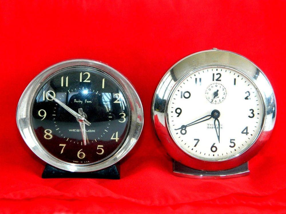 Vintage Alarm Clocks BABY BEN Wesclox SET OF 2 Winding ...