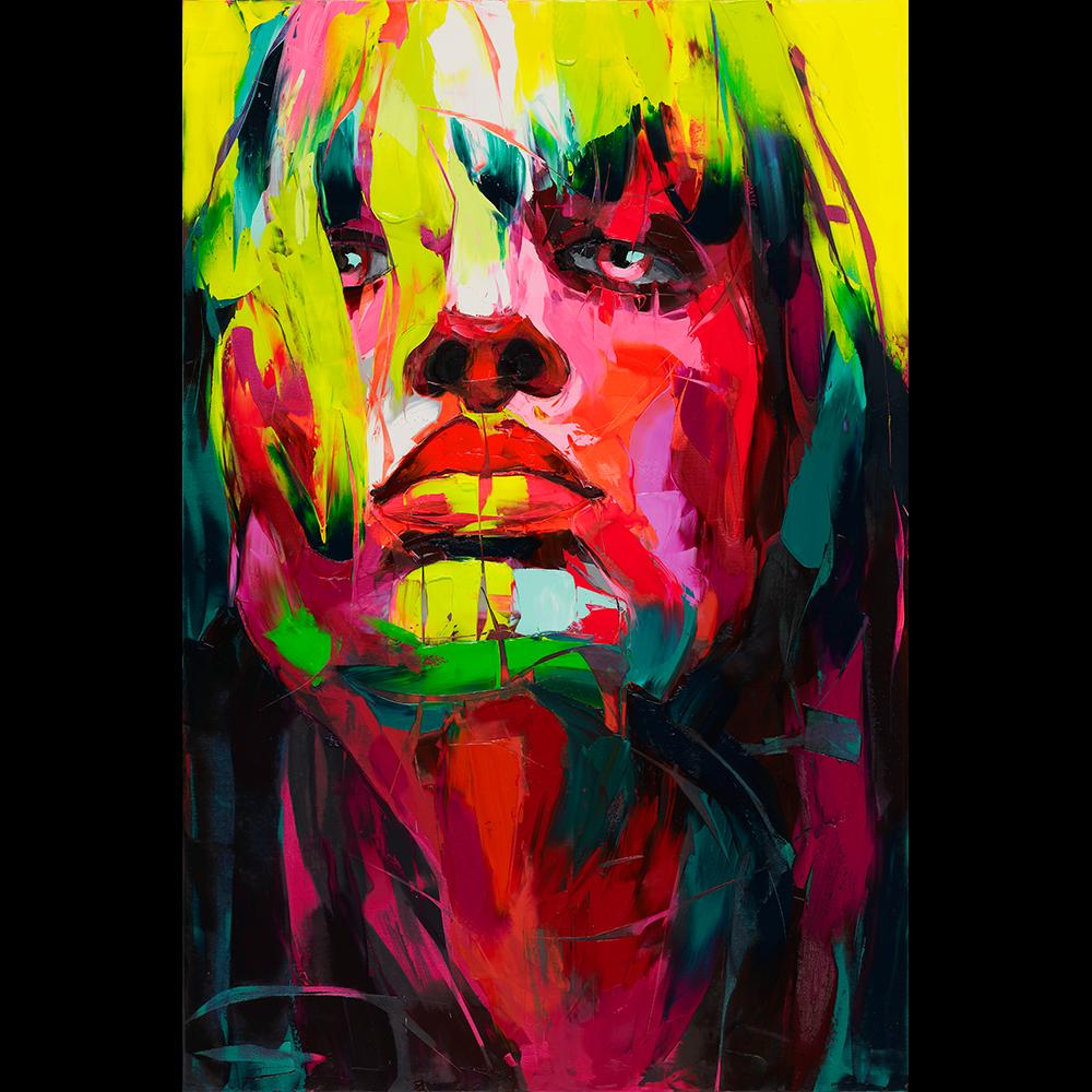 La Diabolique Portrait Painting Colorful Portrait Art