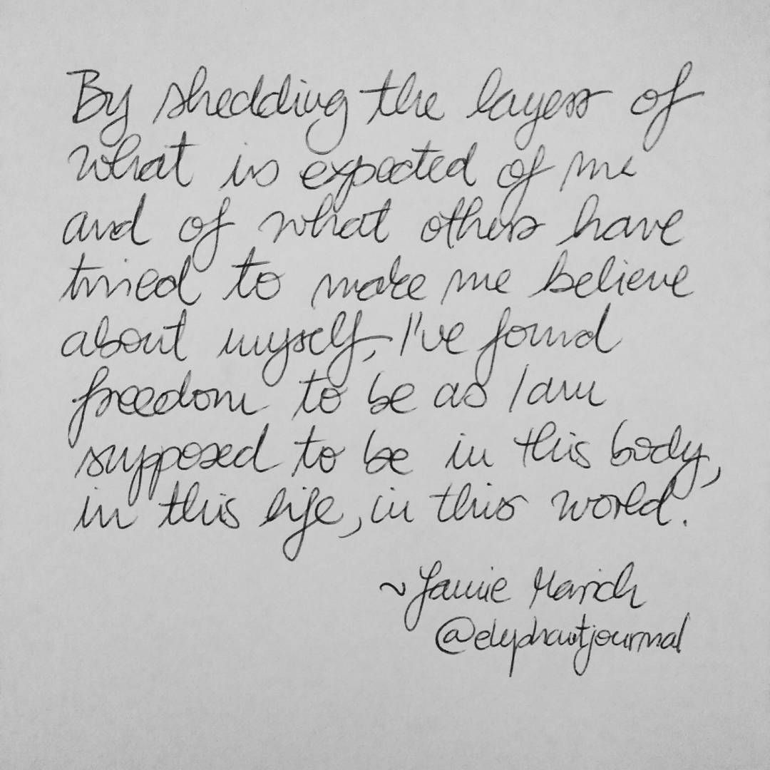 Love This Quote Via An Article By Jamie Marich On Elephant Journal