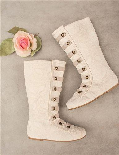 girls cream boots