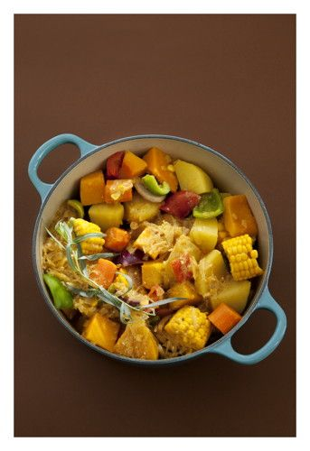 Tarragon Vegetable Potjiekos Traditional South African Cuisine