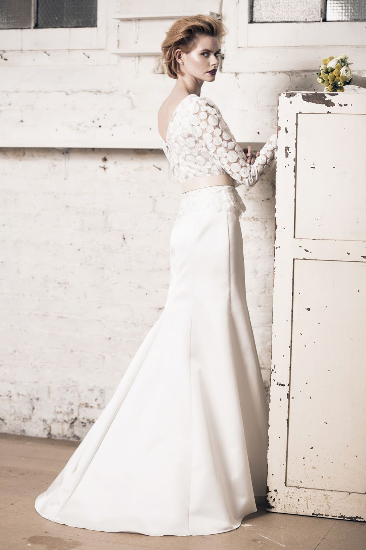 Modern Wedding Dress For The Contemporary Bride Angelina Top Meryl Skirt Mu Bridal