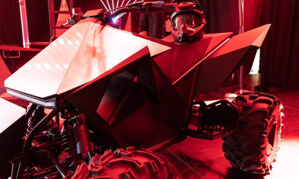 Tesla S Electric Atv To Come As Option For Cybertruck Pickup Says Elon Musk Tesla Electric Dirt Bike Hot Rods Cars Muscle