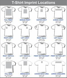 Graphic placement for youth t shirt google search tips for Embroidery placement on t shirts