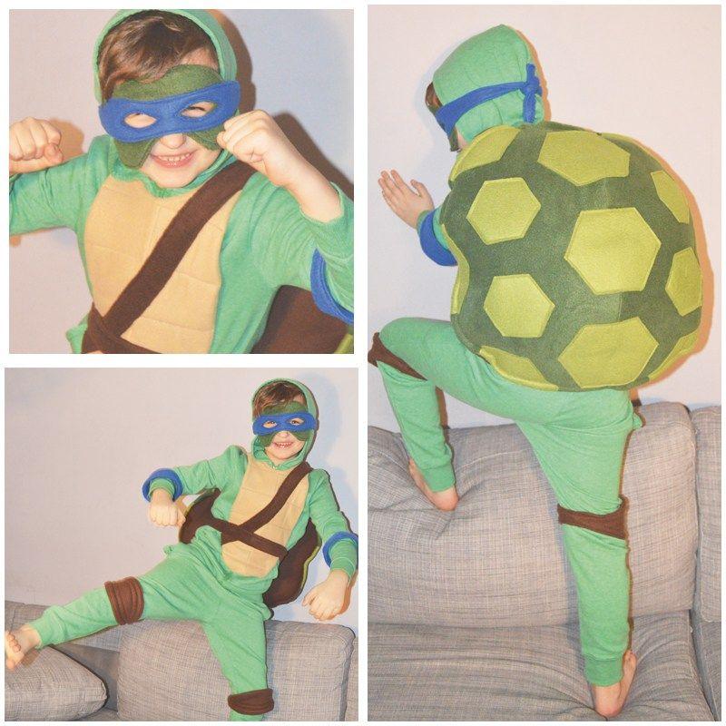 diy ninja turtles kost m kost m f r jungen karneval. Black Bedroom Furniture Sets. Home Design Ideas