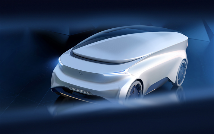 Download wallpapers Icona Nucleus, 2018, self-driving living