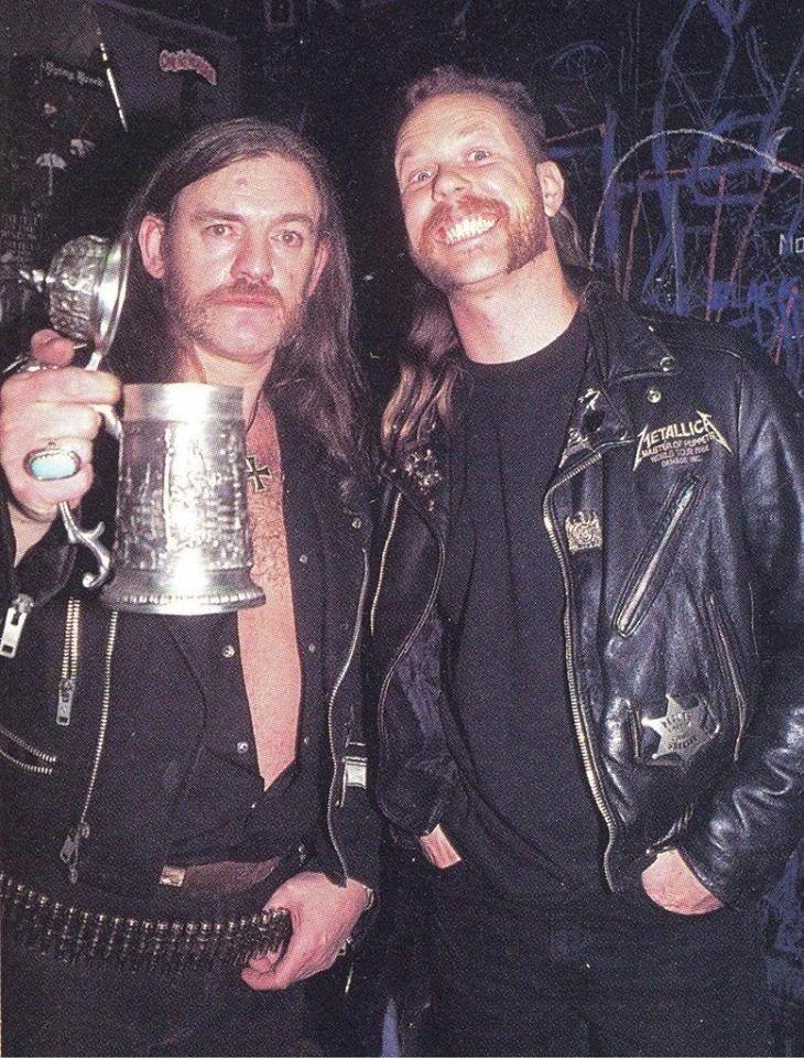 Lemmy and James Hetfield
