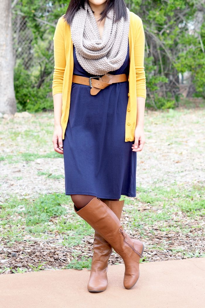 Wear That Dress Outfits With Leggings Navy Blue Dress Outfit