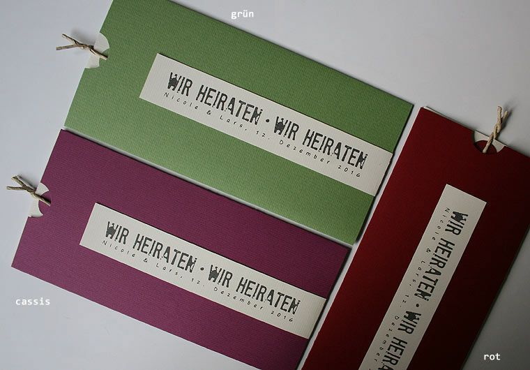 Hochzeitskarte Wedding Card Be Pure In Different Colors