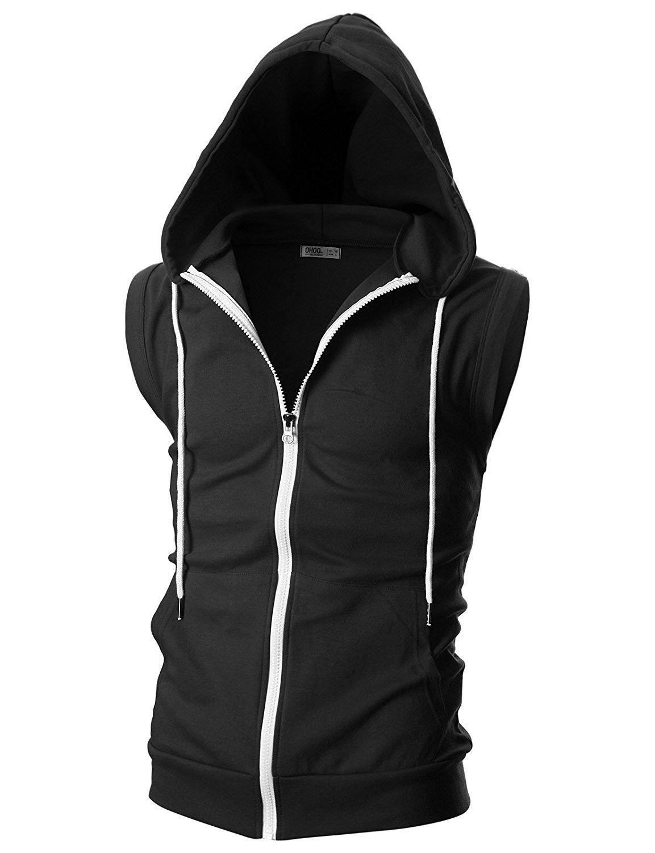 Men S Clothing Sweaters Vests Mens Slim Fit Sleeveless Lightweight Zip Up Hooded Vest With Zipper Trim Dcf012 Hooded Vest Hoodie Fashion Mens Hooded Vest [ 1500 x 1153 Pixel ]