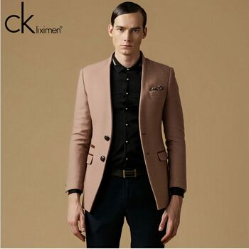 2014 new men blazers casual men suit jacket Wool blazer outerwear ...