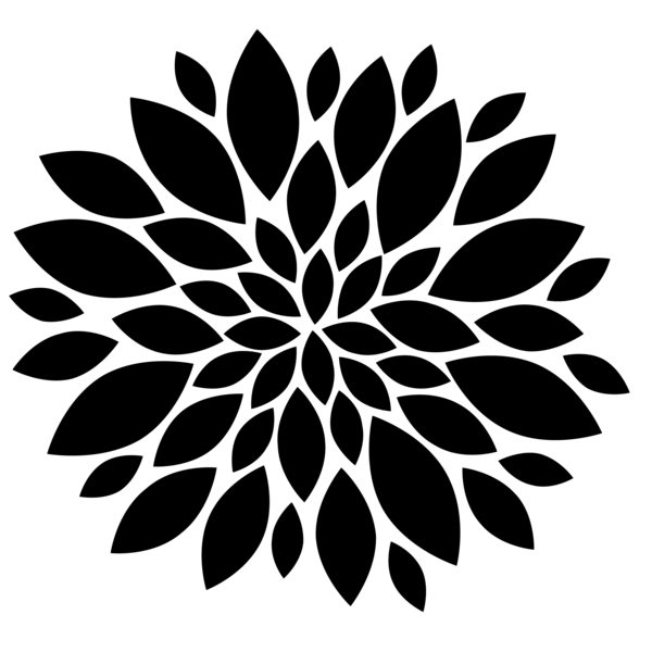 black flower png | Flowers Black image - vector clip art ...