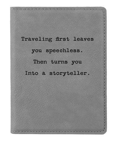 Look at this #zulilyfind! Gray 'Traveling First' Passport ...