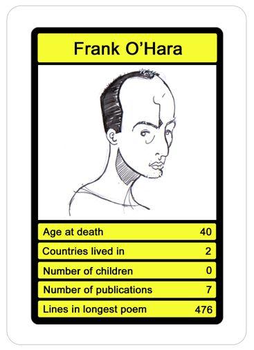 Frank O'Hara top trump.