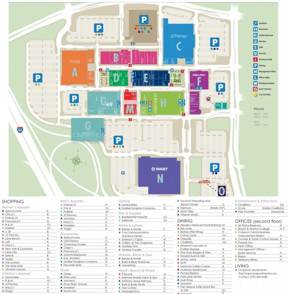 Peninsula Town Center Shopping Plan The Hamptons Towns Peninsula