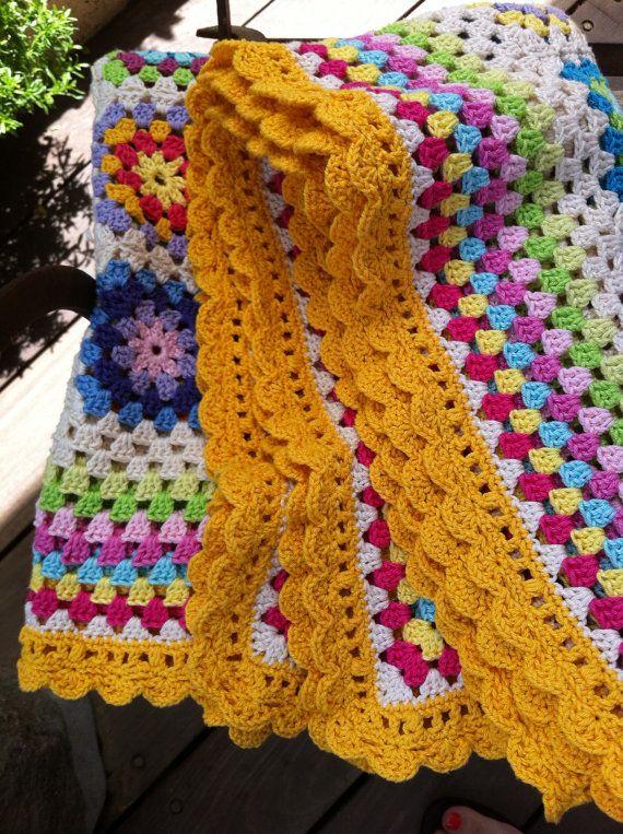 ganchillo Plaza abuela manta colorido por CrochetObjet en Etsy ...