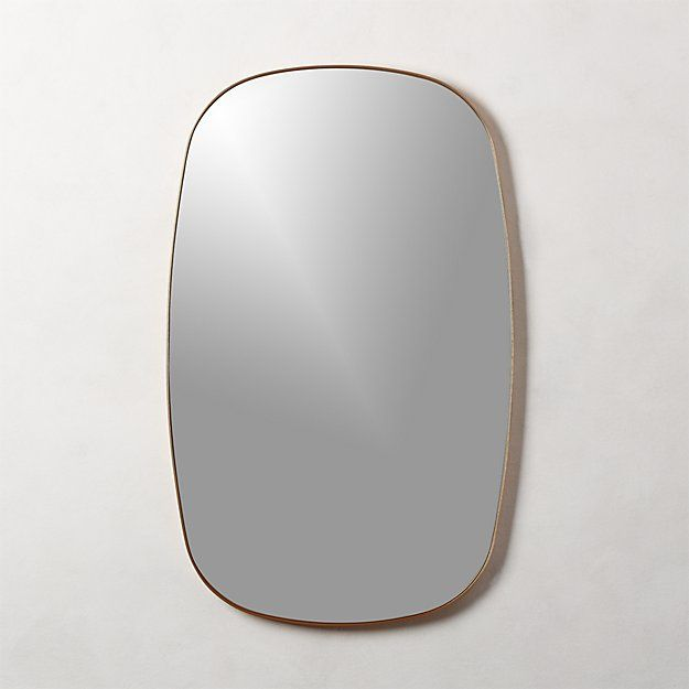Infinity Brass Oblong Wall Mirror In 2020 Mirror Small Round