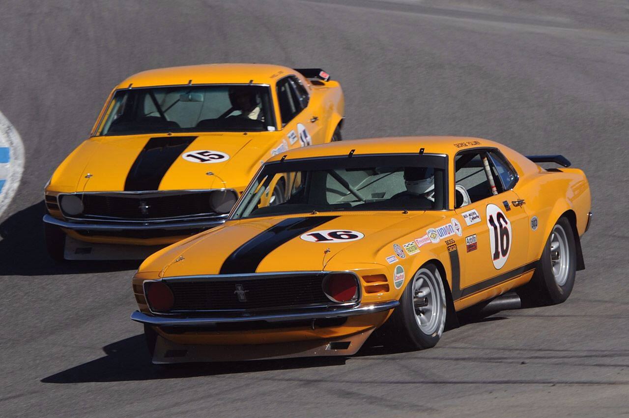 Boss Mustang 1969 with Parnelli on board at Riverside | Trans-AM ...