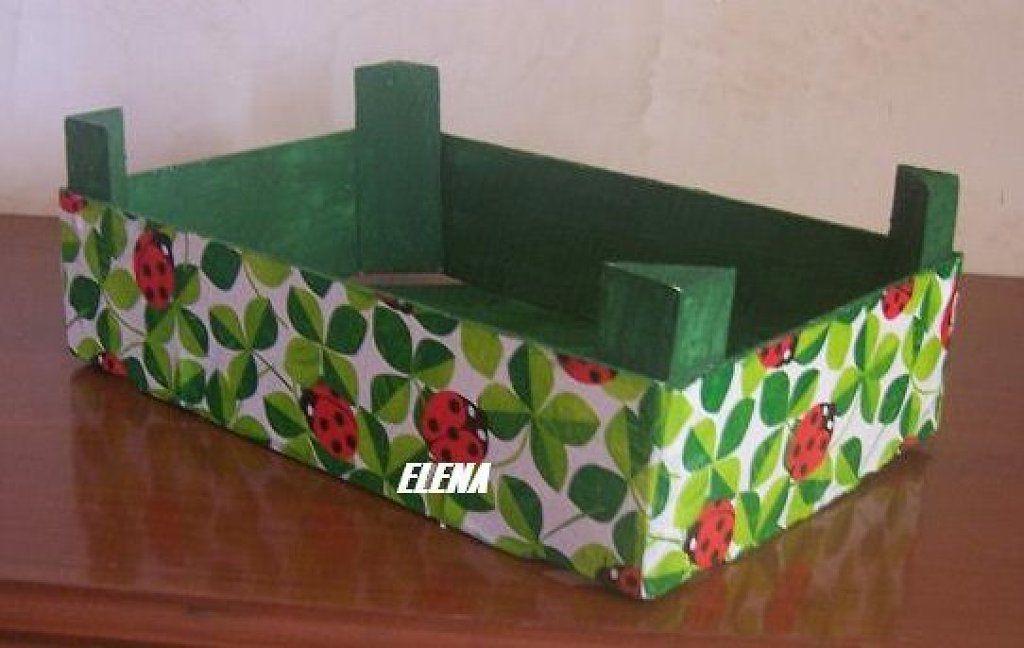 Madera de las cajas de fruta hacer bricolaje es - Decorar cajas de madera manualidades ...
