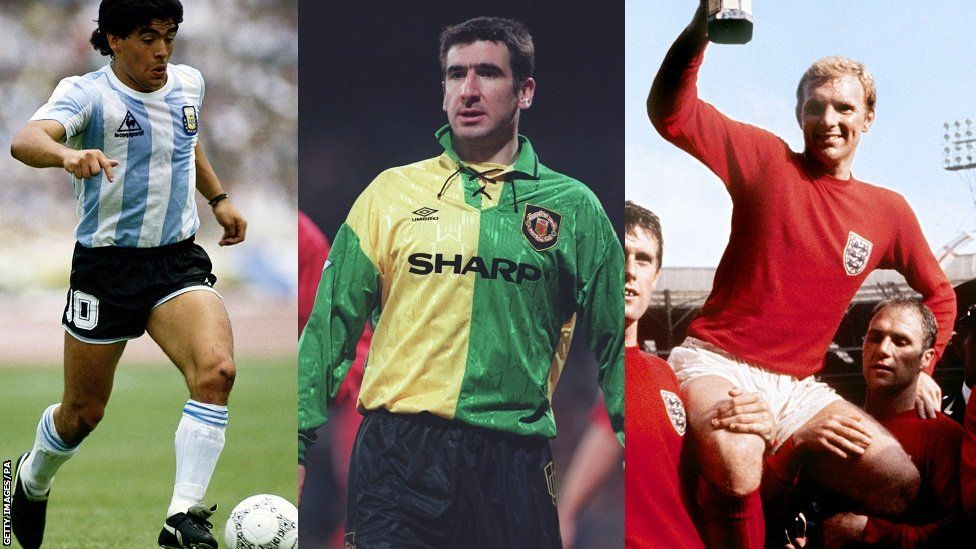 Football Kits Iconic Strips From Moore To Maradona Bbc Football Football Kits First Football