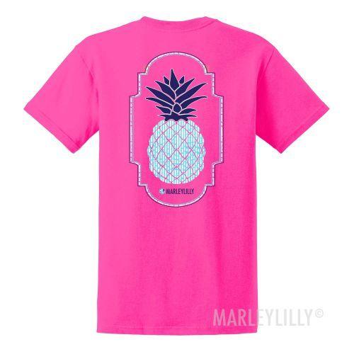 $14.99 (free ship over $50) SIZE small- Seersucker Pineapple Promo Short Sleeve Tee   Marleylilly
