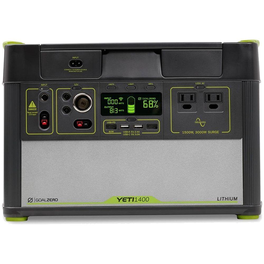Goal Zero 38300 Yeti 1400 Lithium V2 Solar Generator Portable Power Station W Wi Fi Solar Energy Panels Solar Power Panels Solar Generator