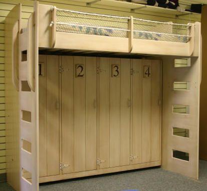 Beach Theme Murphy Bed Loft Top Is Twin Bed Bottom Is A Folding