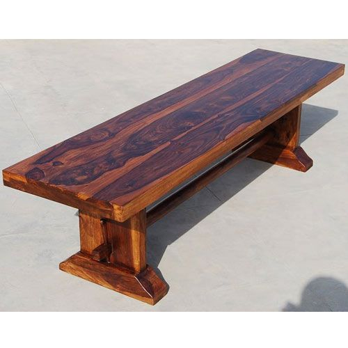 Rustic Wood Benches Indoor | Wood Rustic Trestle Indoor Outdoor Garden  Backless Bench Furniture NEW