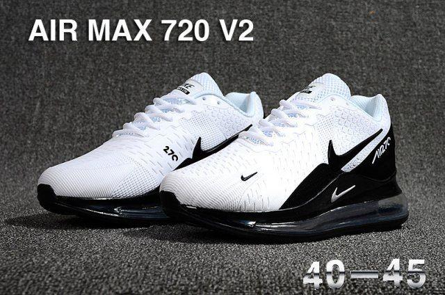 Nike Air Max 720 V2 KPU Men's Running Shoes White Black