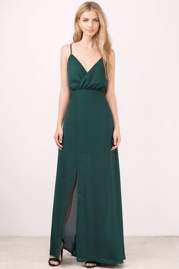 Bienvenido a miami green maxi dress