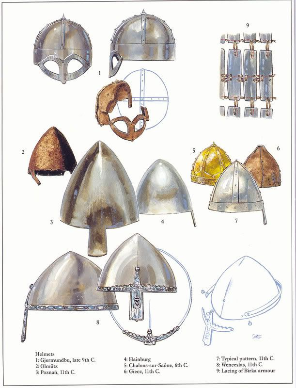Viking/North Germanic style (Saxon) Helmets of the Migration Period - Viking Age.