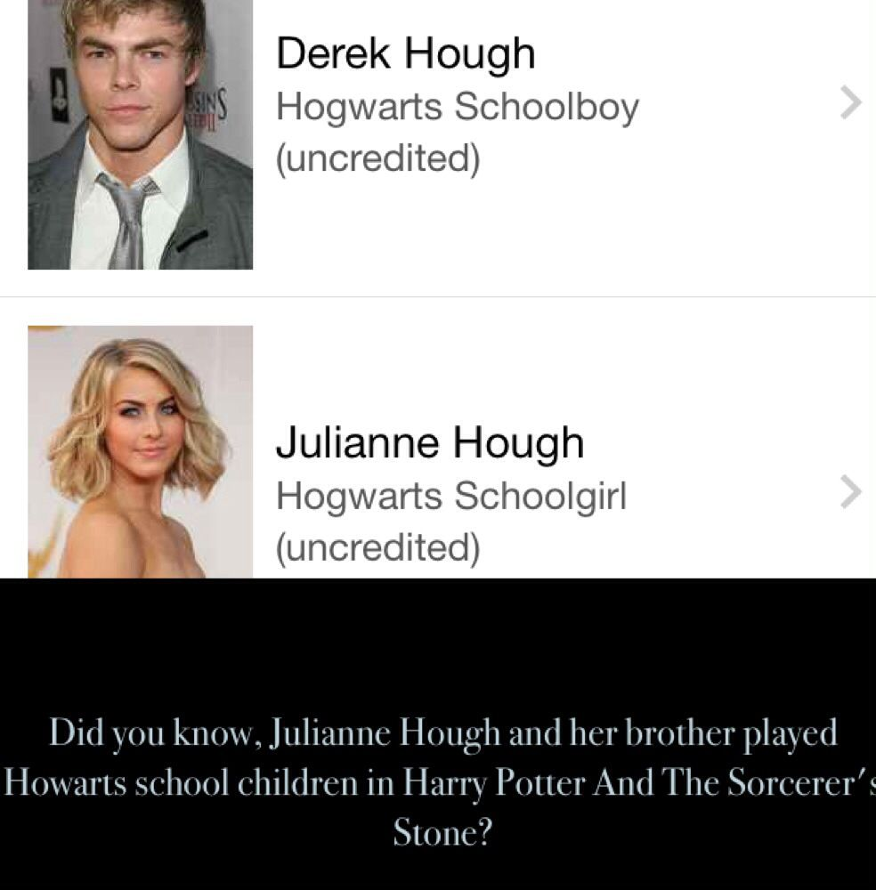Did You Know Julianne Hough And Her Brother Were In Harry Potter Her Brother Potter Harry